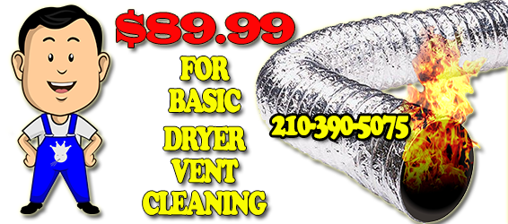 Dryer vent cleaning maybe one of the most overlooked home maintenance tasks, but can also be one of the most important tasks when it comes to fire safety. Dryer vent cleaning San Antonio should be done once per year and is recommended by AAA Duct Cleaning's technicians. AAA Duct Cleaning offers dryer vent cleaning services to commercial and residential clients at an affordable price. Call 210-390-5075 to schedule your dryer vent cleaning today San Antonio.